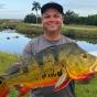 Житель Флориды (США) поймал рекордно большую ленточную цихлу