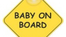 набор Mothercare: зеркальце, шторки, знак Baby on board