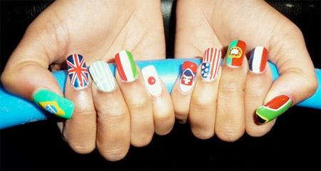 Креативные рисунки на ногтях. nails7 Креативные рисунки на ногтях.